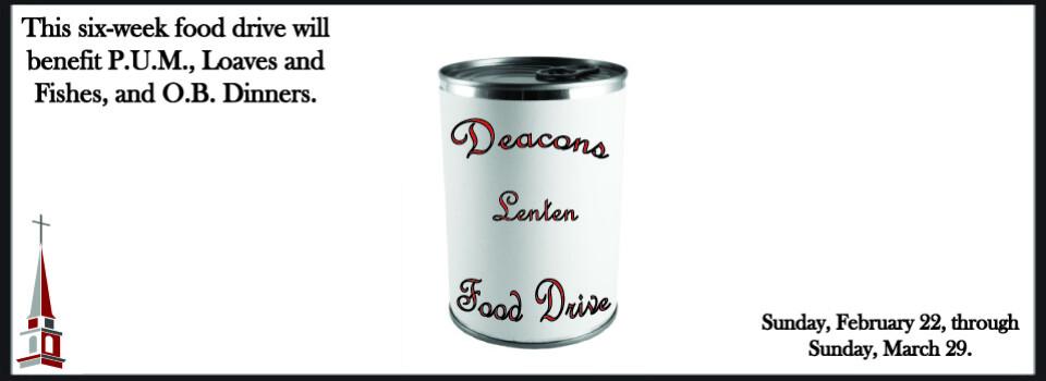 Deacons Lenten Food Drive