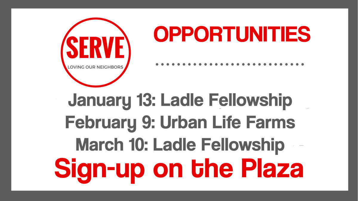 Serve at Ladle Fellowship