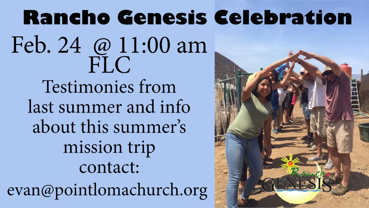 Rancho Genesis 2018 Trip Report