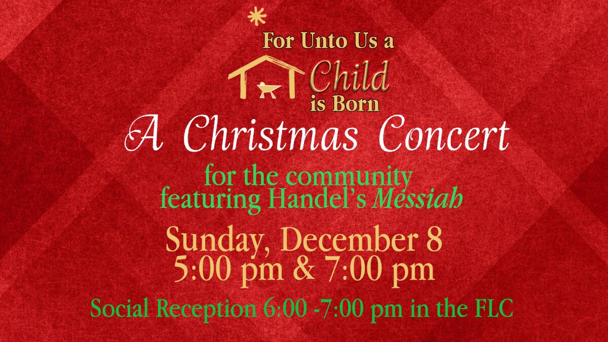 Christmas Concert 5 pm