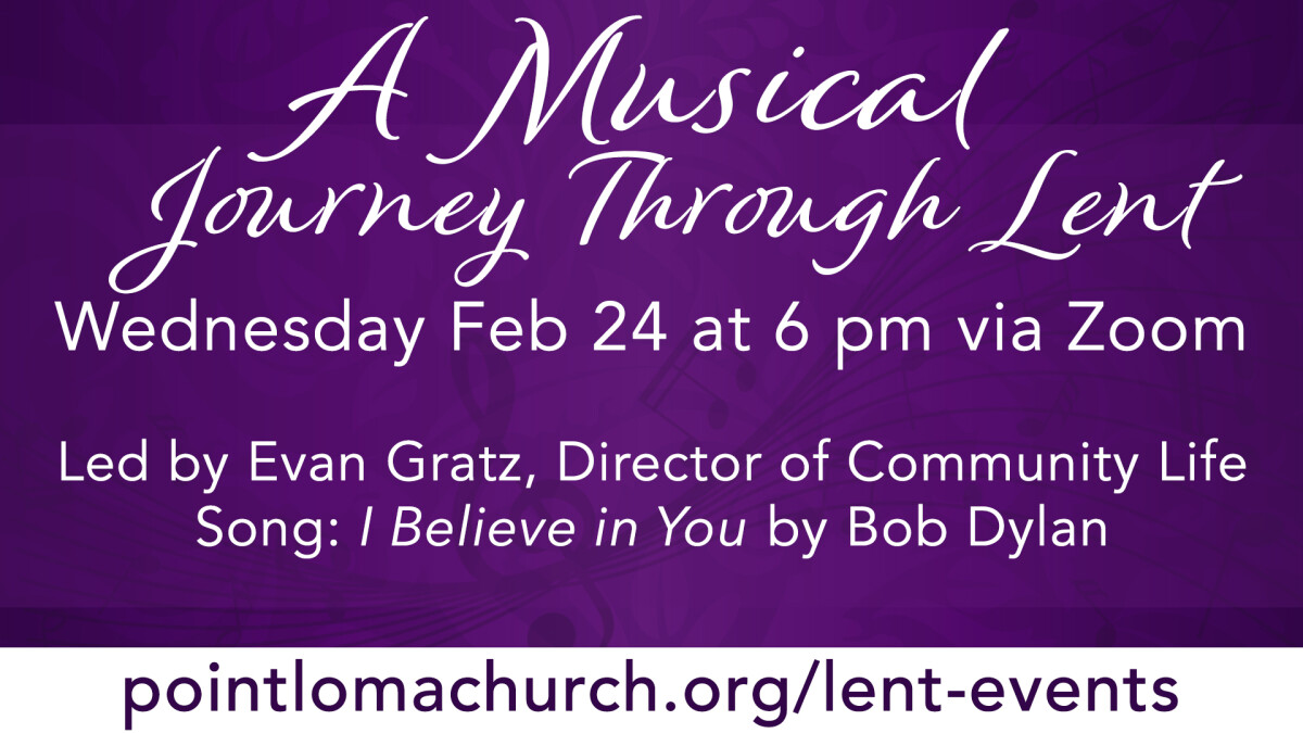 A Musical Journey Through Lent - ONLINE