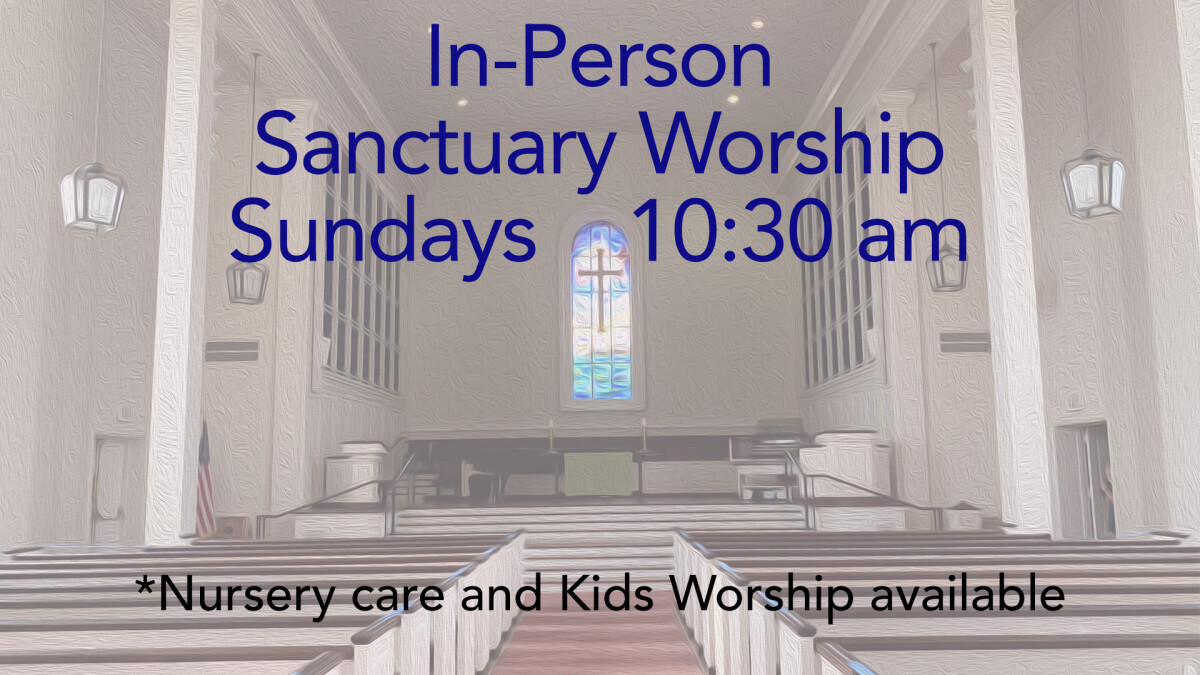 In Person Sanctuary Worship